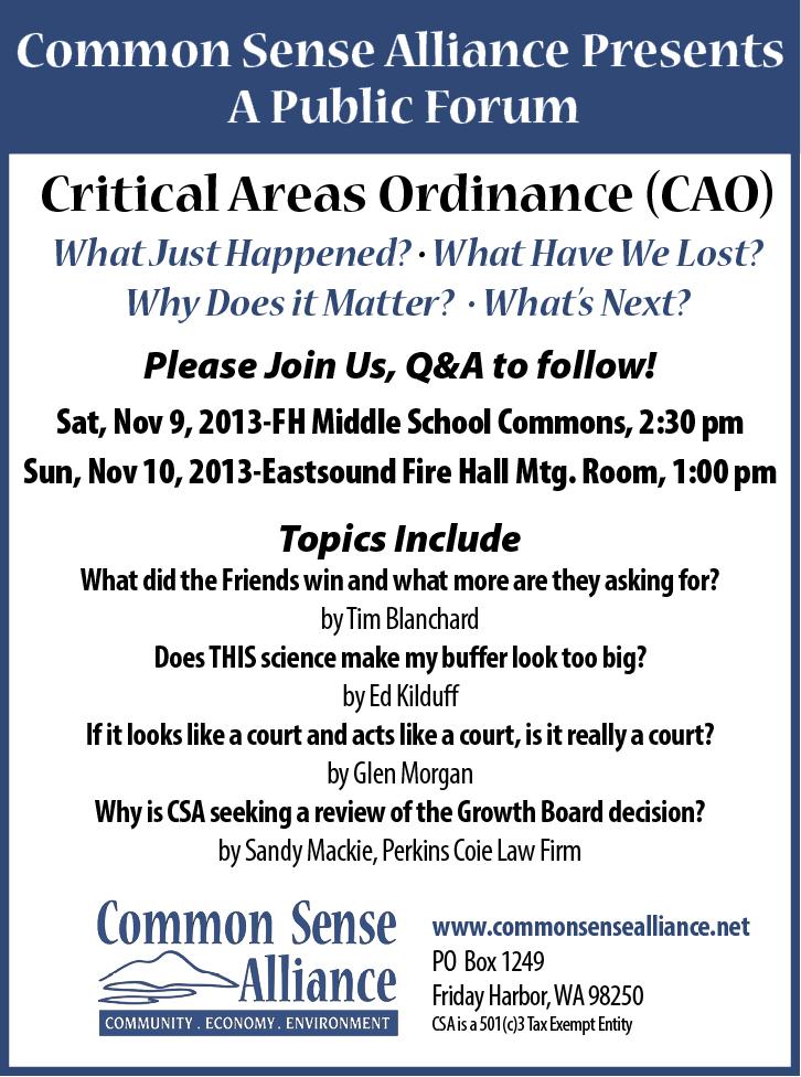 CSA Presents a Public Forum